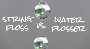 water flosser vs string floss
