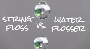 water flosser vs string floss