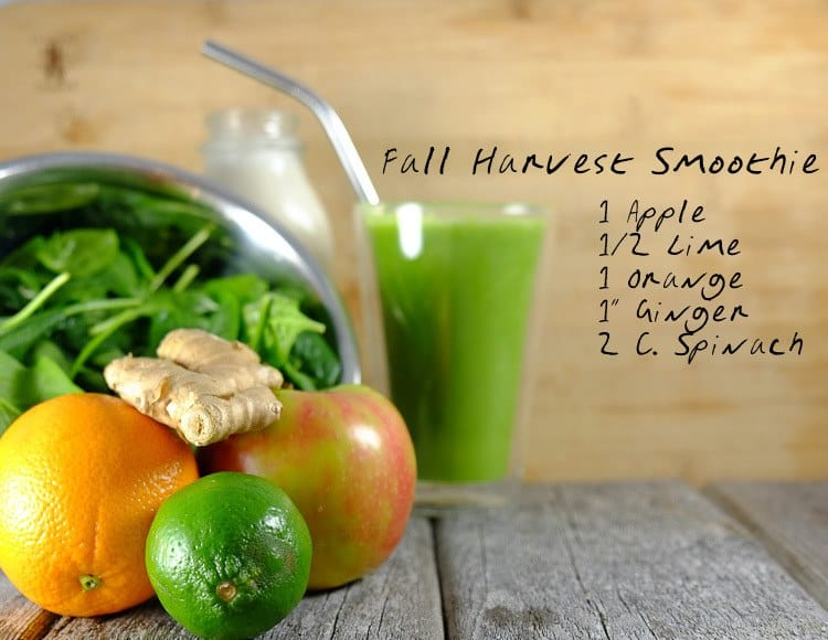 fall green smoothie