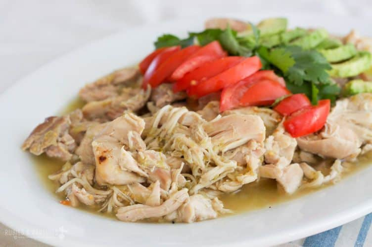 Slow Cooker Chicken Chile Verde Recipe — Dishmaps