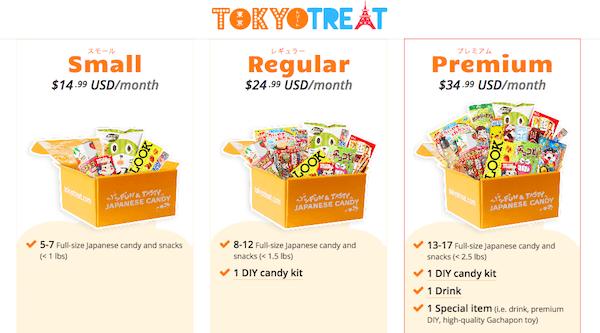 tokyo treat pricing