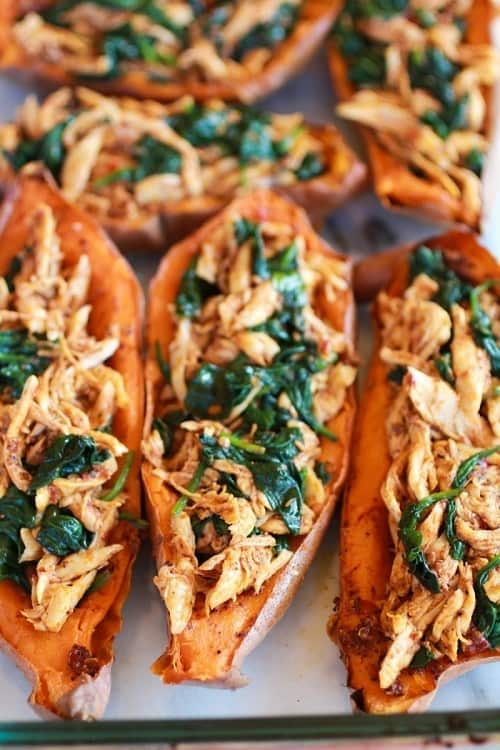 Bbq Chicken Sweet Potato Skins
