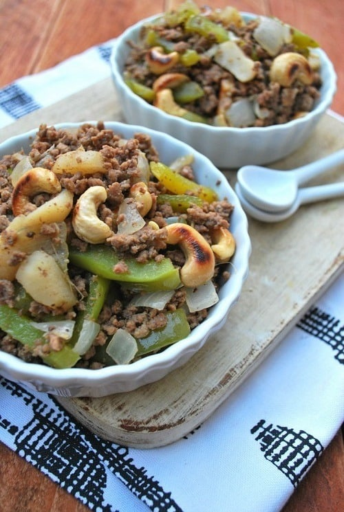 Cashew and Ground Beef Stir Fry