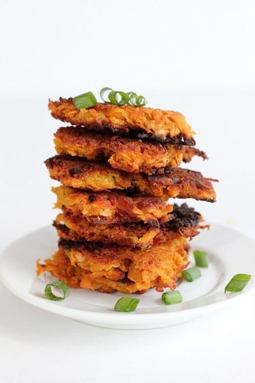 Sweet Potato and Bacon Cakes