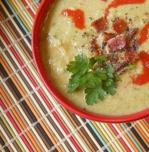 bacon-leek-cauliflower-soup