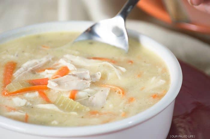 whole30 chicken noodle soup