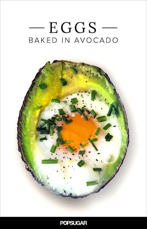 Baked Eggs in Avocadoes