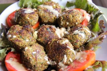 Zucchini and Almond Meal Falafels