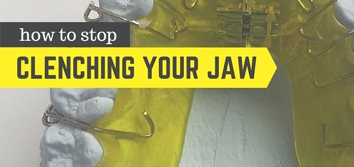 how to stop clenching jaw