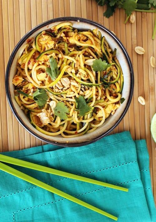 zucchini noodle pad thai