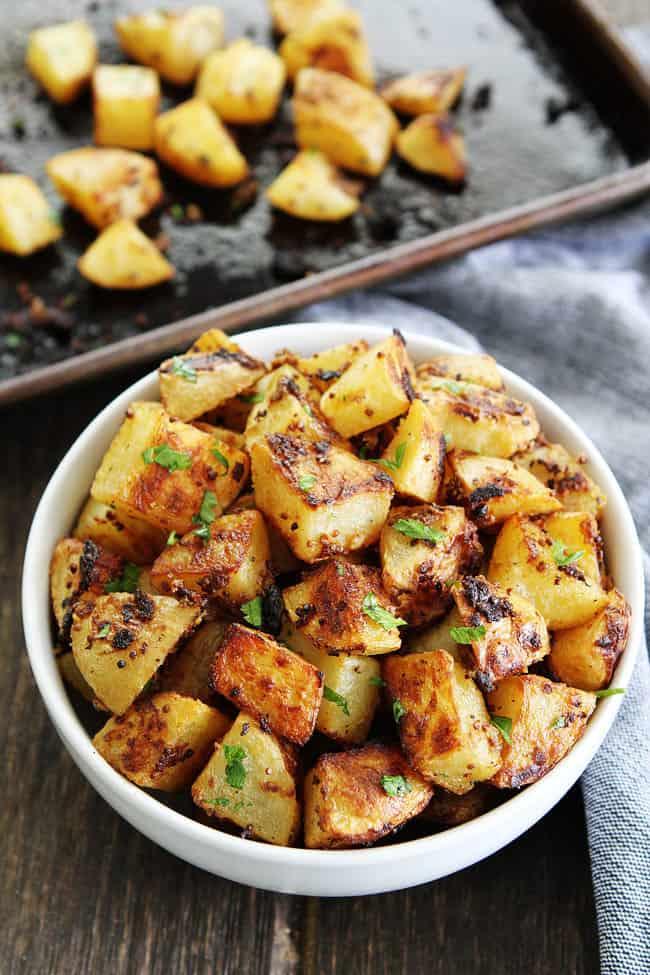 Mustard-crusted whole30 potato recipe