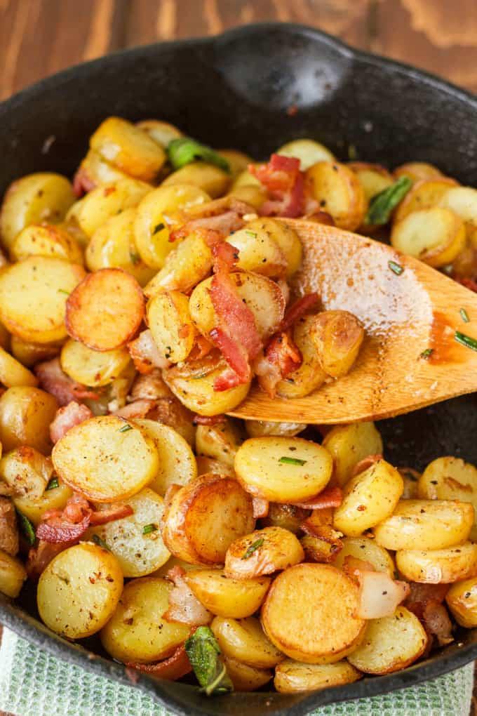 Pan-fried fingerling potato recipe