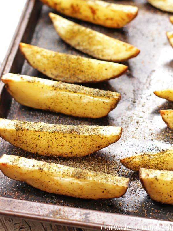 Crispy wedges whole30 potato recipe
