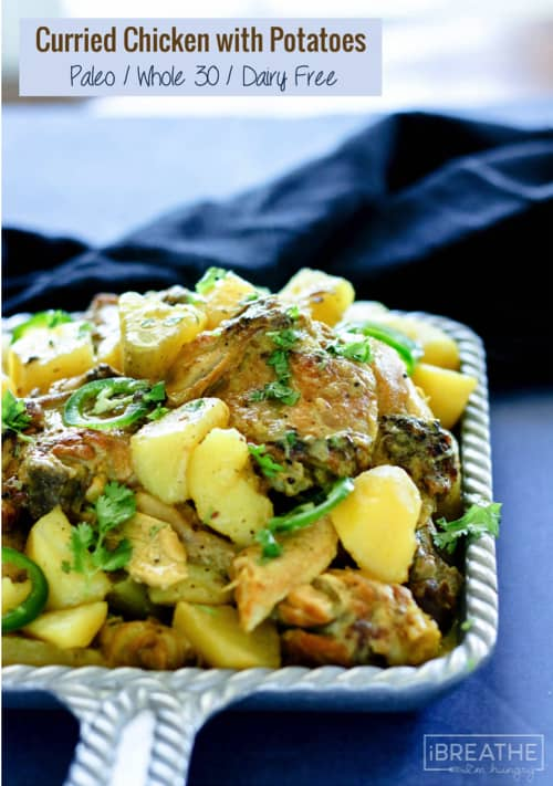 Curried chicken with potatoes