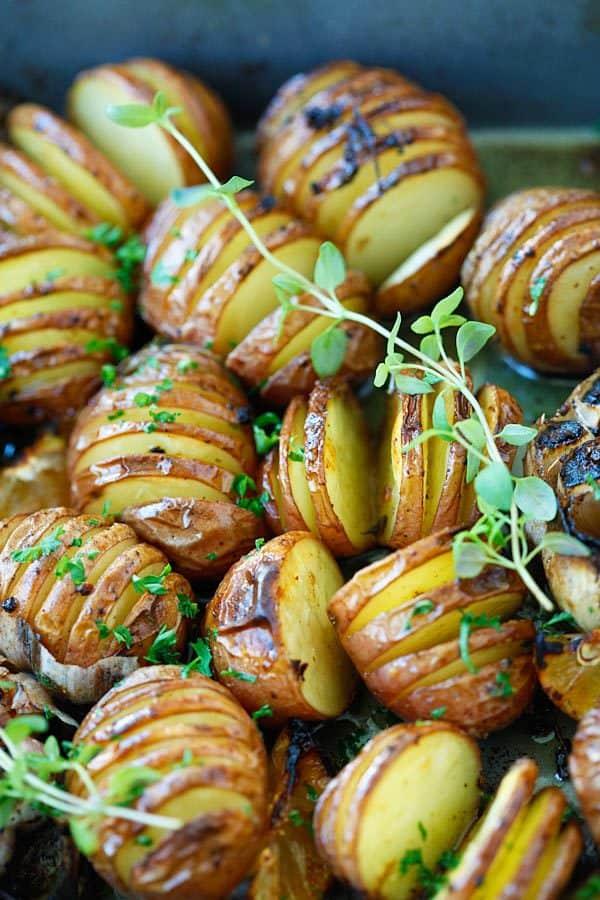 Whole30 potato recipe with garlic herb