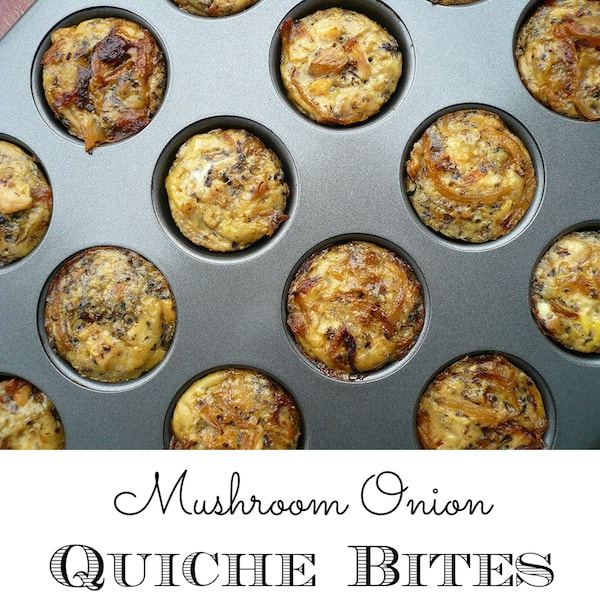 whole30 mushroom quiche bites