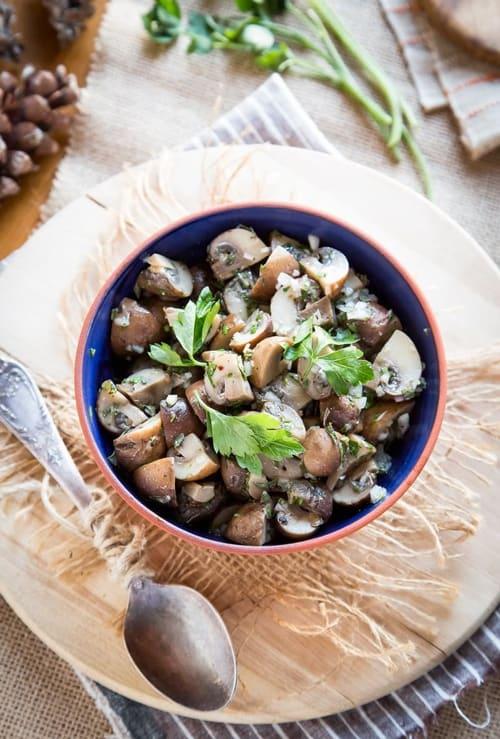 Herb Marinated Mushrooms