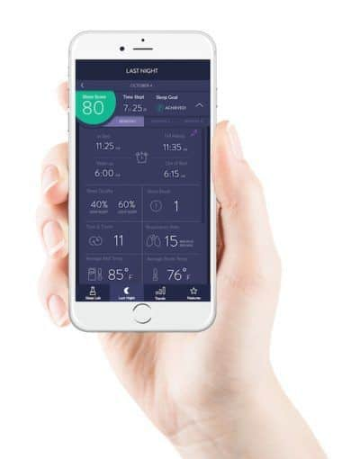 eight smart mattress sleep tracking app