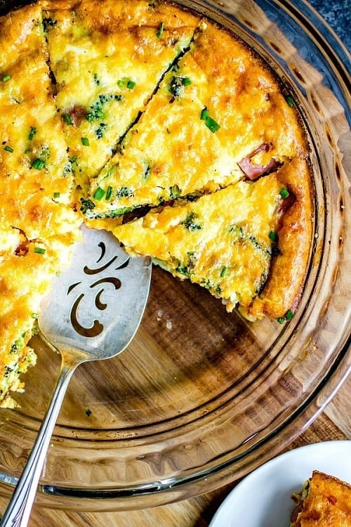 Keto-Low-Carb-Ham-Cheese-Crustless-Quiche