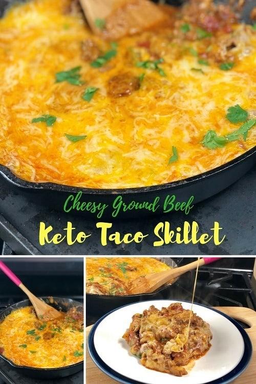 Keto-Cheesy-Ground-Beef-Taco-Skillet