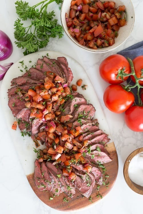 Whole30-Grilled-Steak-With-Balsamic-Tomatoes