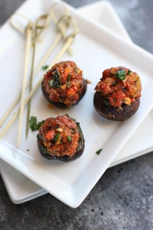 whole30-chorizo-stuffed-mushrooms
