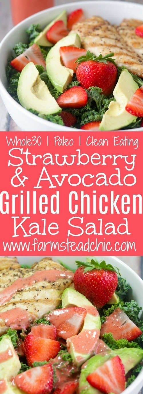 paleo-whole30-strawberry-avocado-kale-salad