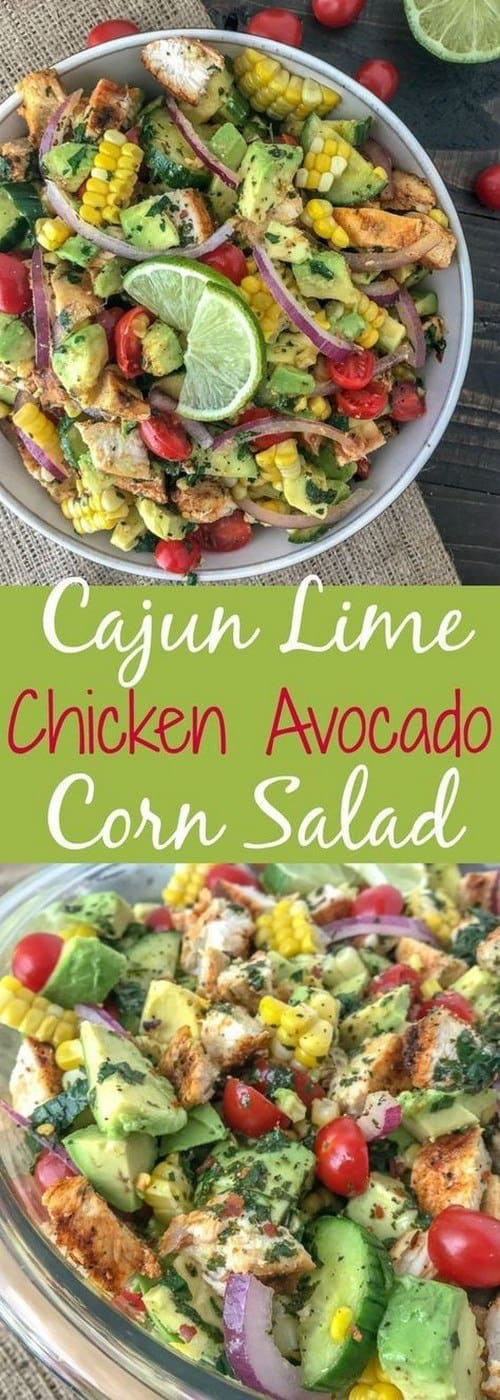 cajun-lime-chicken-avocado-corn-salad