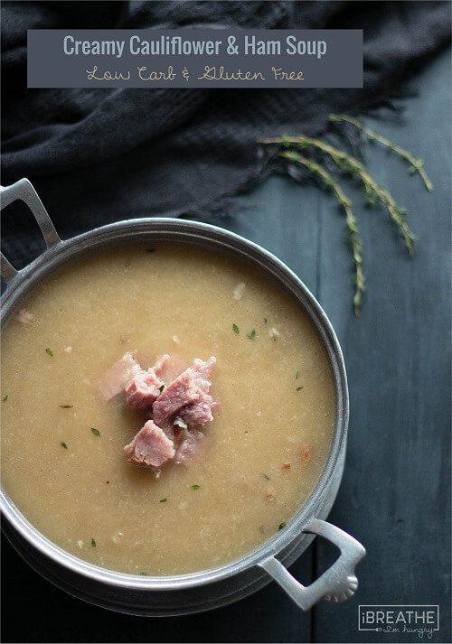 cauliflower-leftover-ham-soup-low-carb