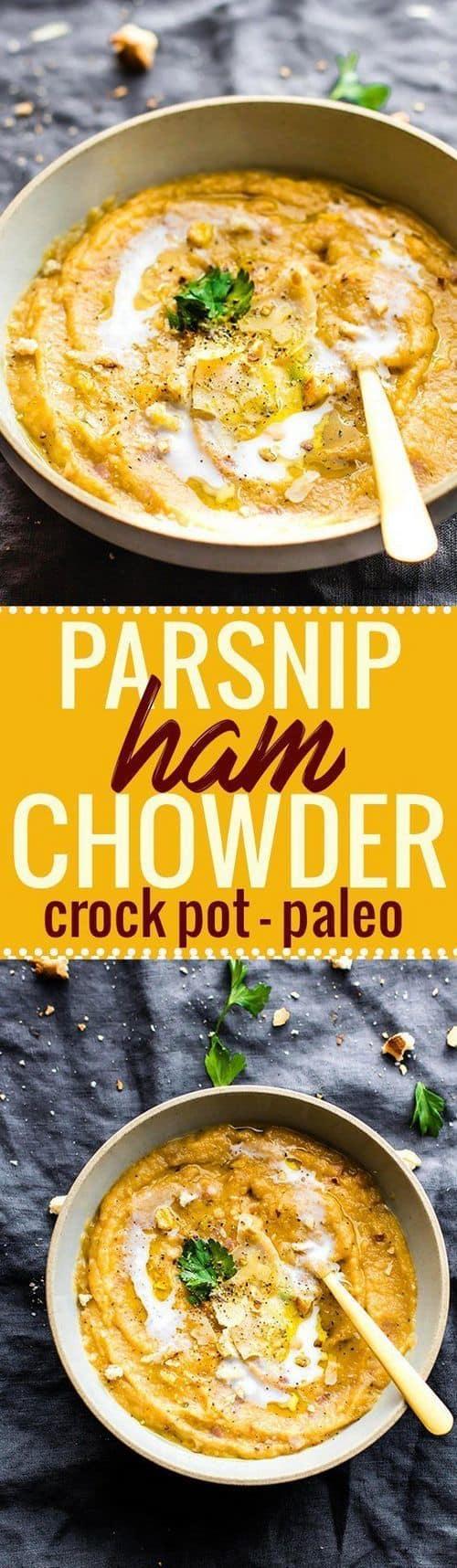 crock-pot-parsnip-ham-chowder-paleo