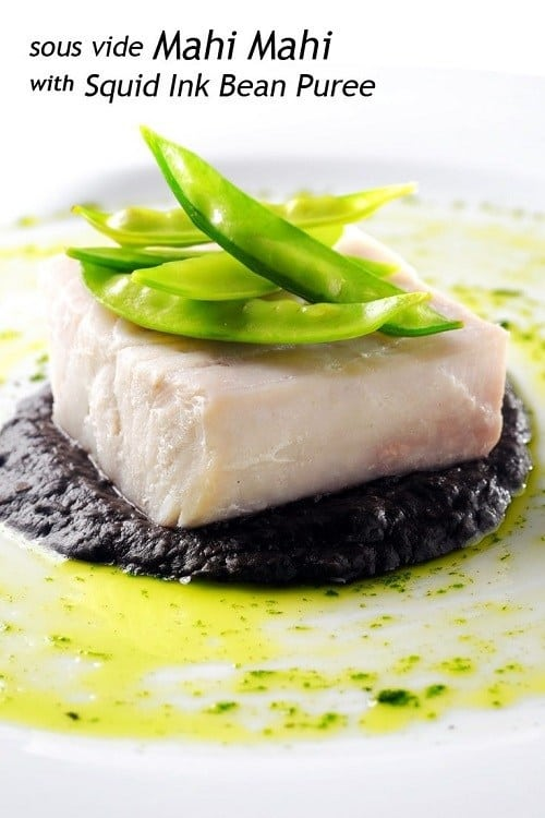 Sous-Vide-Mahi-Mahi-with-Squid-Ink-Bean-Puree