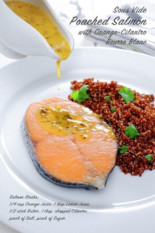 Sous-Vide-Poached-Salmon-with-Orange-Cilantro-Beurre-Blanc