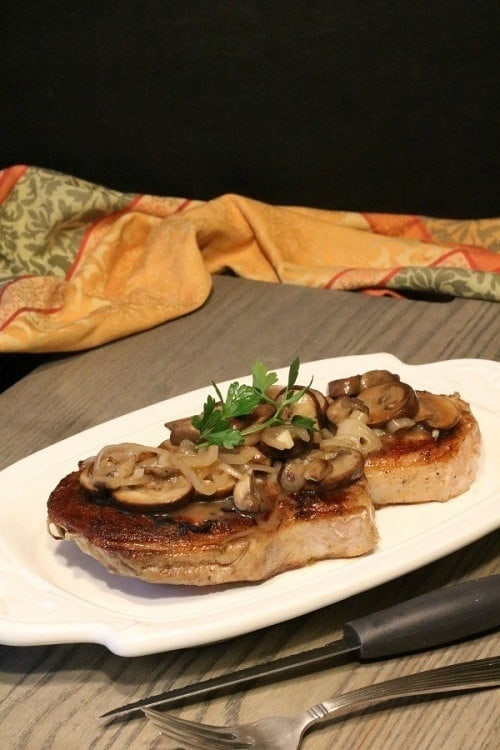 Sous-Vide-Pork-Chops-Smothered-Shallots-Mushrooms