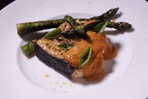 Sous-Vide-Swordfish-Romesco-Sauce