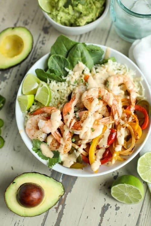 Whole30-One-Pan-Shrimp-Fajita-Bowls