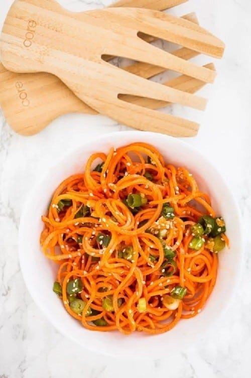 asian-sesame-spiralized-carrots