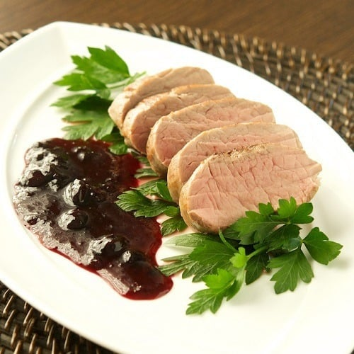 sous-vide-pork-tenderloin-blueberry-gastrique