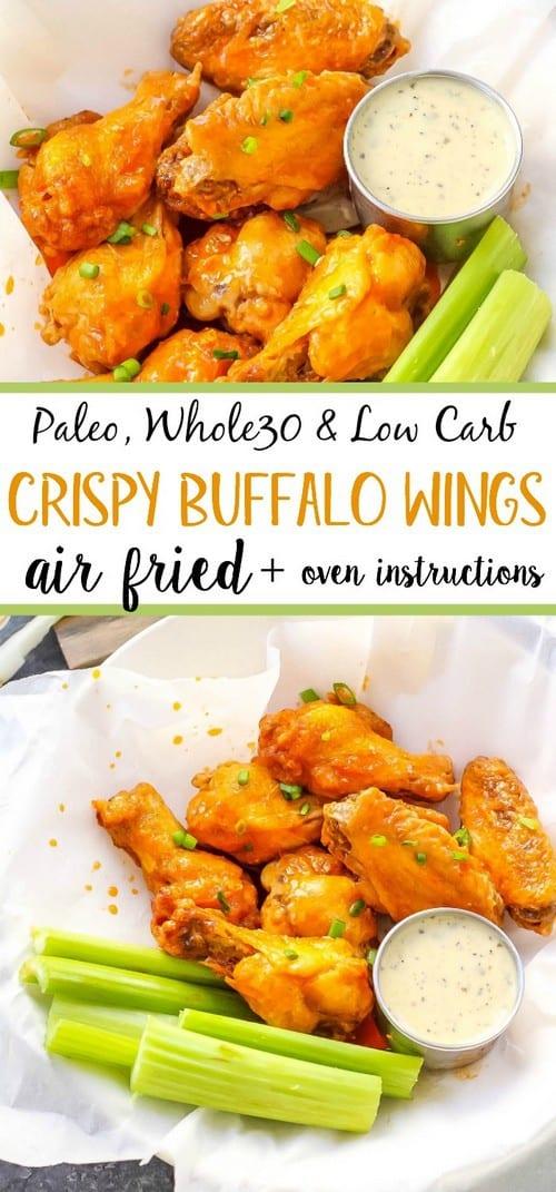 Whole30 Air Fryer Buffalo Wings