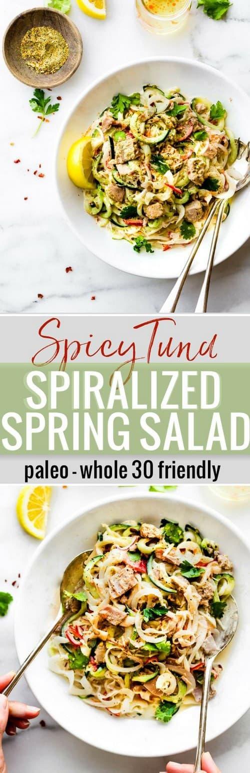 spicy-tuna-spiralized-spring-vegetables-salad