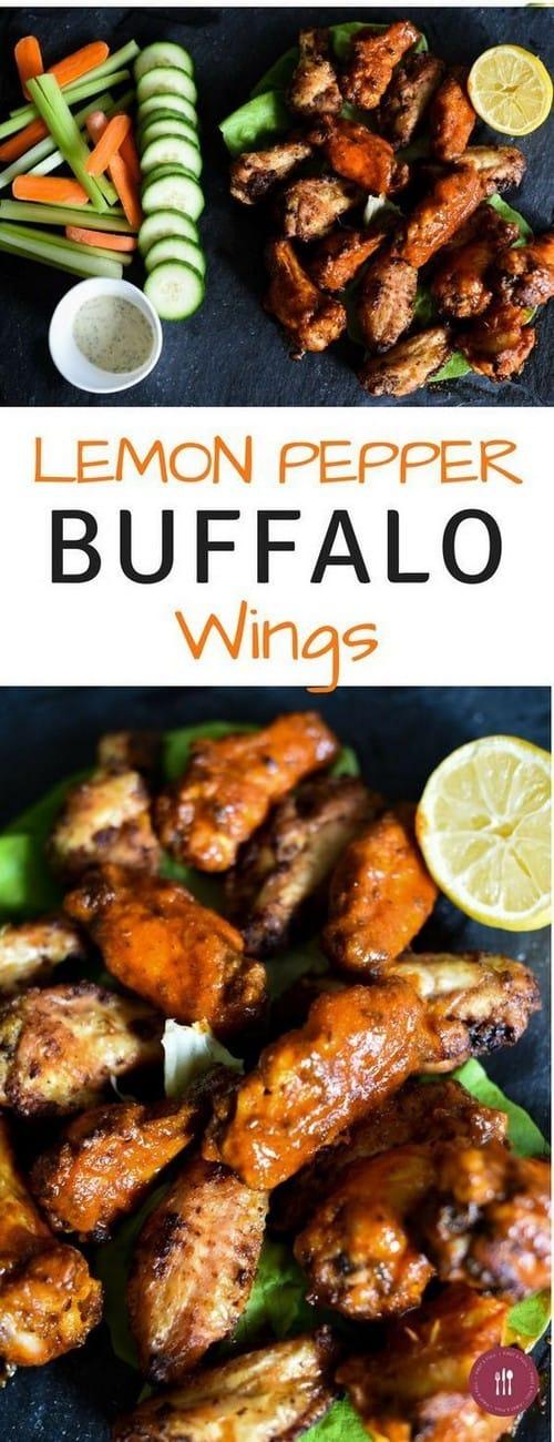 Whole30 Lemon Pepper Buffalo Wings
