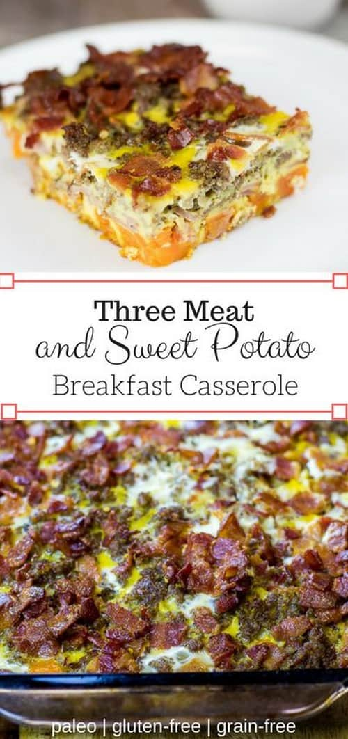 Whole30 Three Meat and Sweet Potato Breakfast Casserole