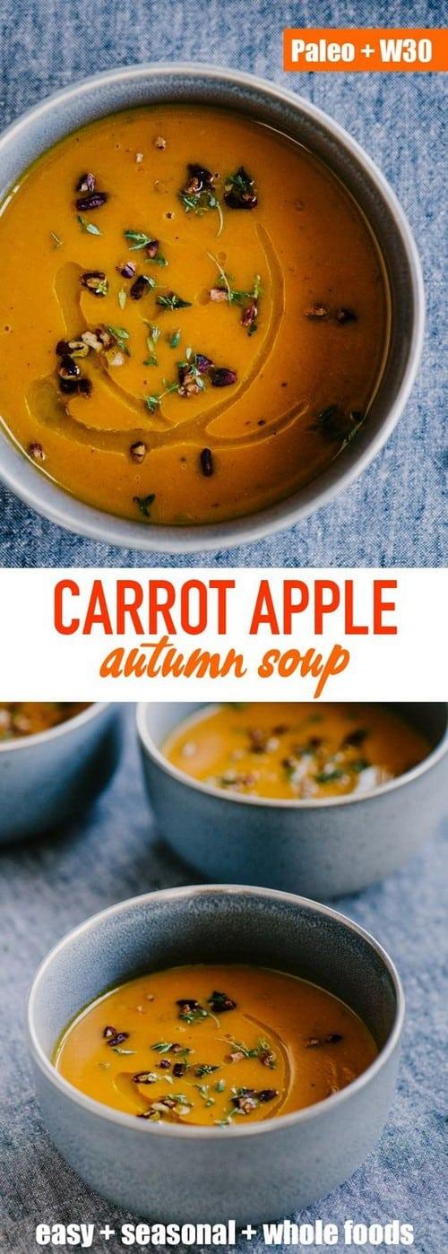 Whole30 Carrot Apple Autumn Soup