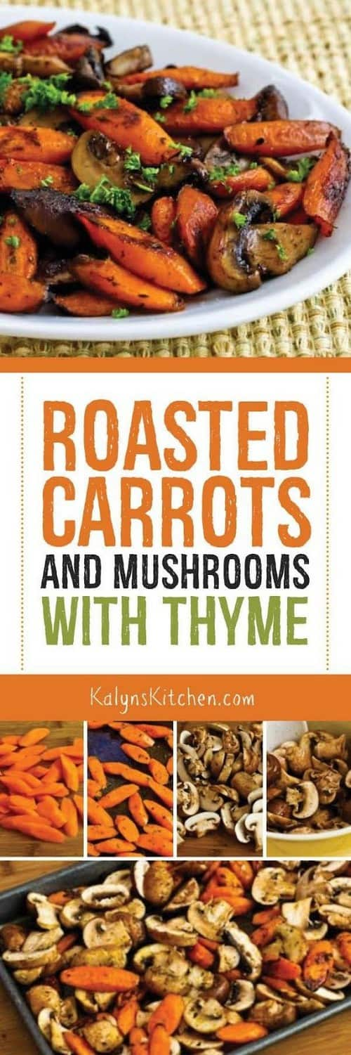 Whole30 Roasted Carrots and Mushrooms with Thyme