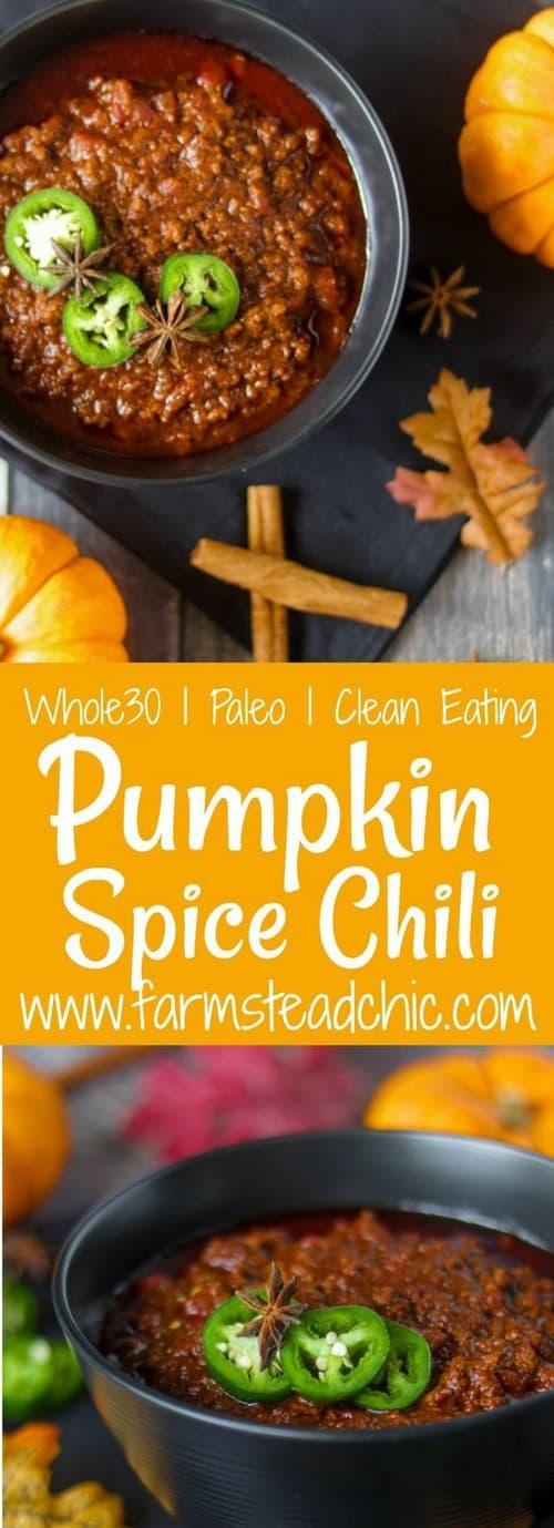 Whole30 Paleo & Whole30 Spiced Pumpkin Chili