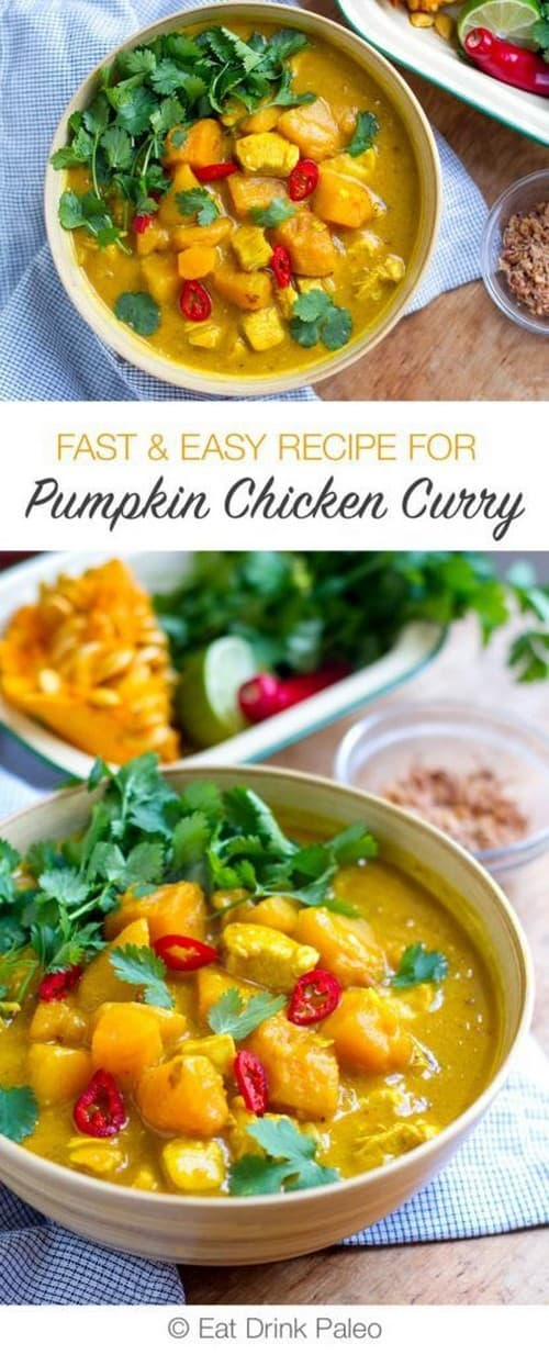 Whole30 Fast and Easy Pumpkin Chicken Curry