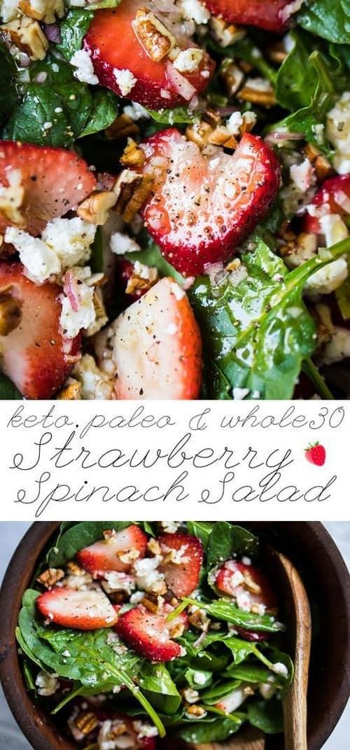 paleo-keto-strawberry-spinach-salad