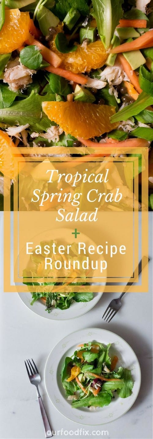 Whole30 Tropical Crab and Greens Salad