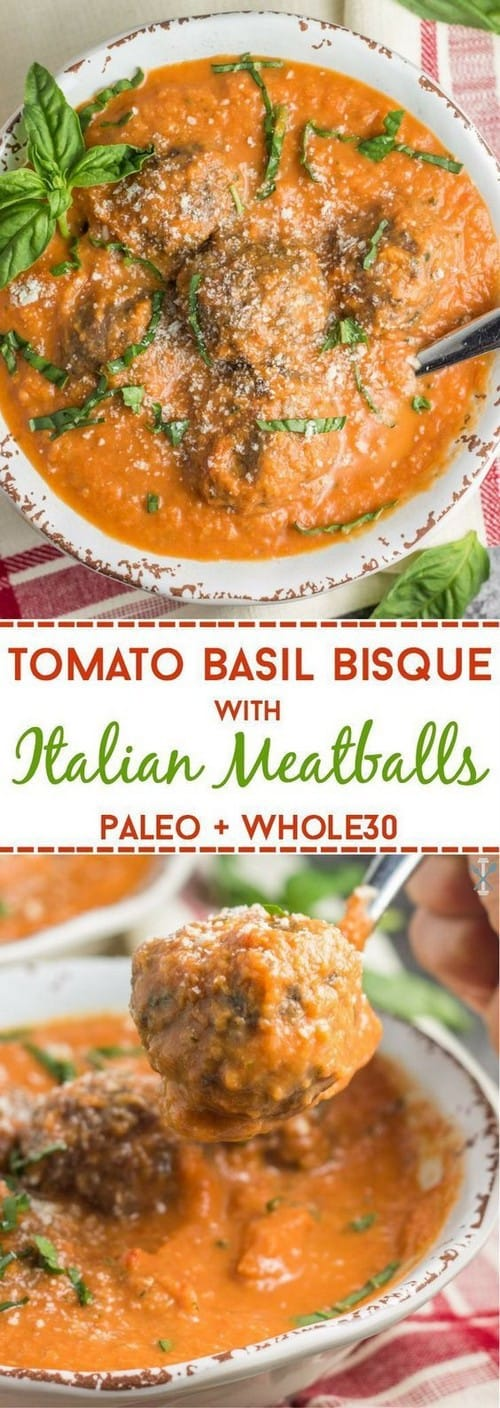 tomato-basil-bisque-with-italian-meatballs-paleo-whole30