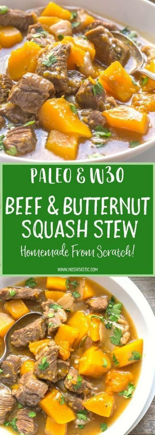 Whole30 Beef and Butternut Squash Stew