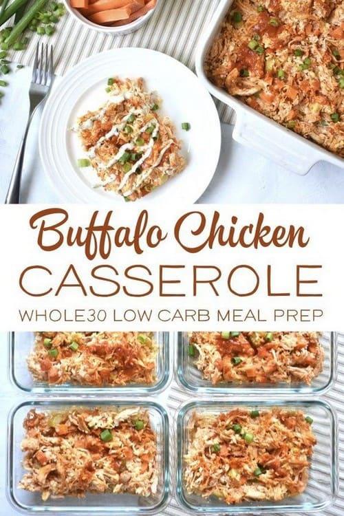 Whole30 Buffalo Chicken Casserole